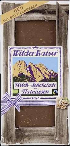 """Schokolade mit Walnüssen von """"Wilder Kaiser"""" (Tirol)"""