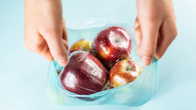 Biologisch abbaubare Plastiksackerl