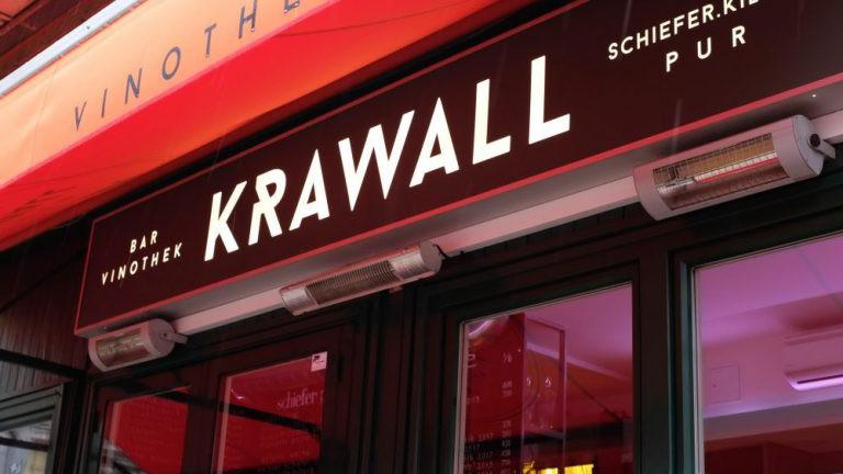 Bar und Edelgreißlerei am Wiener Naschmarkt. Krawall.
