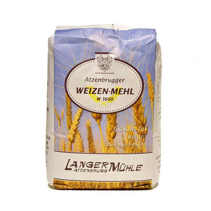 Weizenmehl W1600  Der höherer Schalenanteil in dem Weizenmehl W1600 ist länger haltbar und garantiert mehr  Mineralstoffe und Vitamine.  Dieses Mehl ist geeignet für dunkle Mischbrote