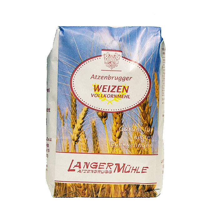 Weizen Vollkornmehl Beim Weizen Vollkornmehl ist der gesamte Schalenanteil im Mehl enthalten. Verwenden Sie es zum Backen von Vollkornbrot  oder Kleingebäck.