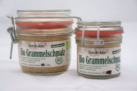 Bio Grammelschmalz im Rexglas