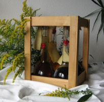 Leer-Box für 4 Geschenkflaschen
