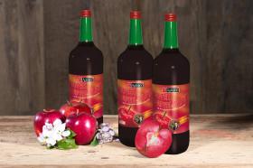 Aus rotfleischigen Äpfeln