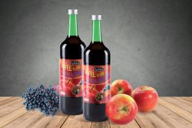 Fruchtiger Mischsaft aus Äpfeln und Holunderbeeren
