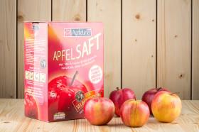 Naturtrüber Apfelsaft in der praktischen Bag-In-Box