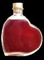''Herz'' aus Glas mit Bio-Sauerkirsch-Mandellikör 21%