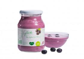 Glück Bio-Kuhmilchjoghurt mit Aronia im Glas
