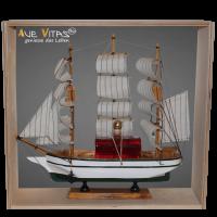 Segelschiff 3-Master aus Holz mit Bio-Pflaumenlikör 21%vol.