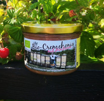 Bettina`s Bio Cremehonig mit Bio Himbeeren