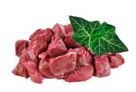 Rotwildfleisch für Ragout
