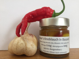 Knoblauch in Bacardy/Curry