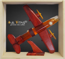 Flugzeug aus Holz mit Bio-Quittenlikör 21%vol.