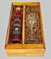 Cranberry-Likör & Likörglas im Set - inkl. Versand