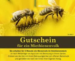 Gutschein für ein Mietbienenvolk