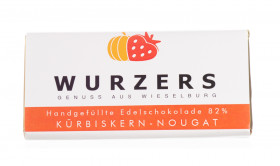 Wurzers Kürbiskern-Nougat-Edelschokolade 82% Kakao