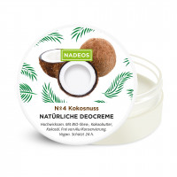 Natürliche Deocreme Kokosnuss