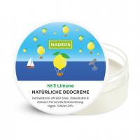 Natürliche Deocreme Limone