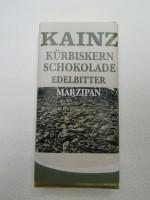Zartbitter Kürbiskernschokolade Marzipan