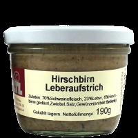 Hirschbirn Leberaufstrich