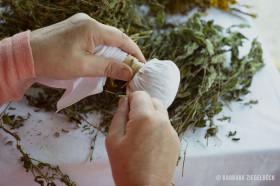 Workshop Wellness und Entspannen mit Kräuterstempeln