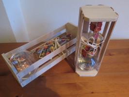 Box mit versiegelter Geschenkflasche - Edelobstler
