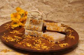 Ringelblumen Seife Natur  ohne Duft und Farbstoffe