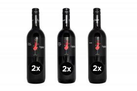 6 x 0,75l Weinprobierpaket rot