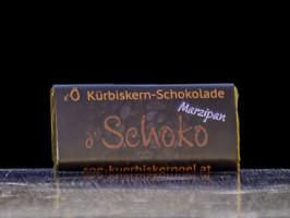 d' Schoko Kürbiskern-Schokolade Marzipan
