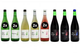 12 x 1 Liter Weinprobierpaket