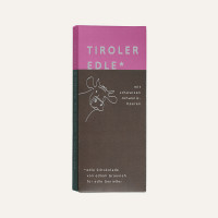 Edelbitterschokolade mit schwarzen Johannisbeeren