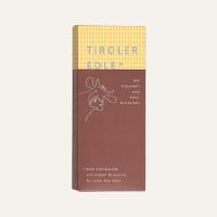 Milchschokolade mit Karamell und Salzkristallen