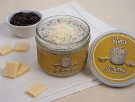 KLARA Milchreis Mohn-weiße Schokolade