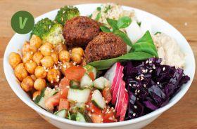BIO Orient Bowl mit hausgemachten Falafel und Hummus