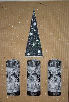 Weihnachtliches Geschenkpaket 3er-Karton Barrique-Rotweine