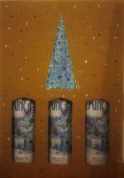 Weihnachtliches Geschenkpaket 3er Karton klassische Rotweine