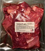 Gulasch geschnitten