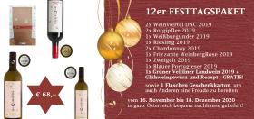 12er Festtagspaket inkl. Glühweinpaket vom Weingut Christen