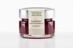 Schilcher-Wein-Gelee mit Kren und Preiselbeeren