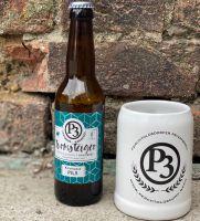 P3 Bier Tonkrug 0,35l mit 0,33l P3 Turmsteiger