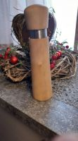 Pfeffer-/Salzmühle aus Birkenholz mit Edelstahlring