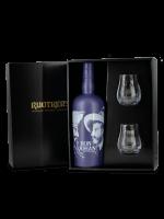 Geschenkset Ron Johan Old Plum Rum + 2 Gläser