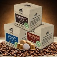 Kaffeekapseln aus Holz - 3er Probierset