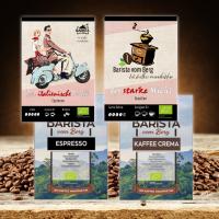 Bio Kaffee/Espresso Bestseller 4er Probierset
