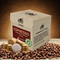 Espresso Kaffeekapseln aus Holz