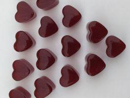 Dirndl Fruchtgummis in Herzform