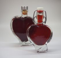Dirndl Likör Herzflasche