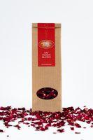Rosenblütenblätter rot