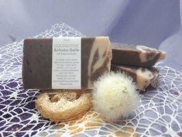 Schoko-Seife mit Kakaoextrakt