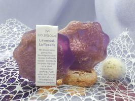 Lavendel-Luffaseife